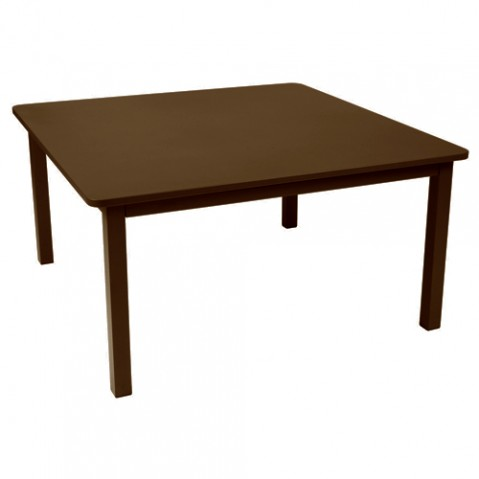 table carree craft fermob rouille