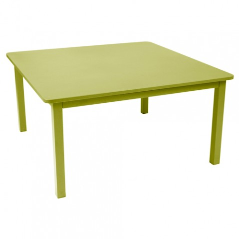 table carree craft fermob tilleul