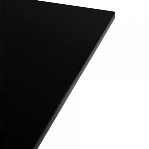table carree glossy kartell noir