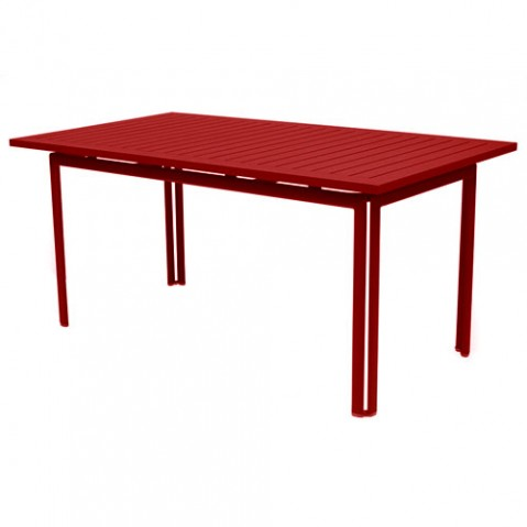 table costa 160 fermob coquelicot