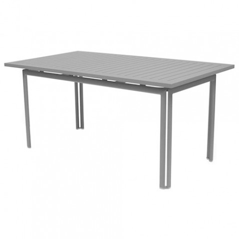 table costa 160 fermob gris metal