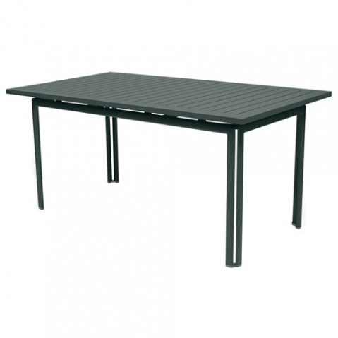 table costa 160 fermob gris orage