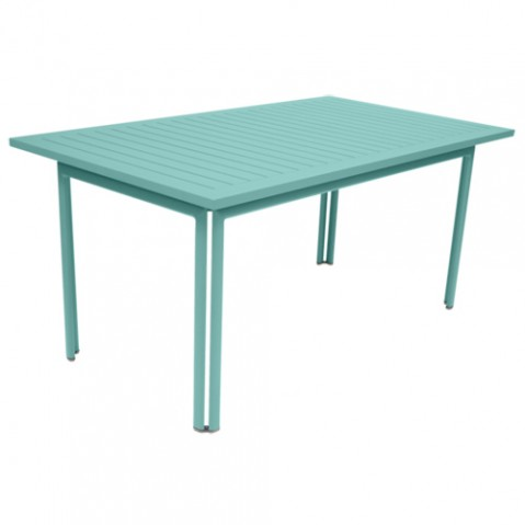 table costa 160 fermob bleu lagune