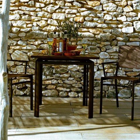table costa 80 fermob piment