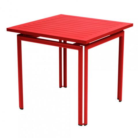 table costa 80 fermob coquelicot