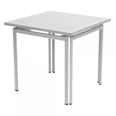 table costa 80 fermob gris metal