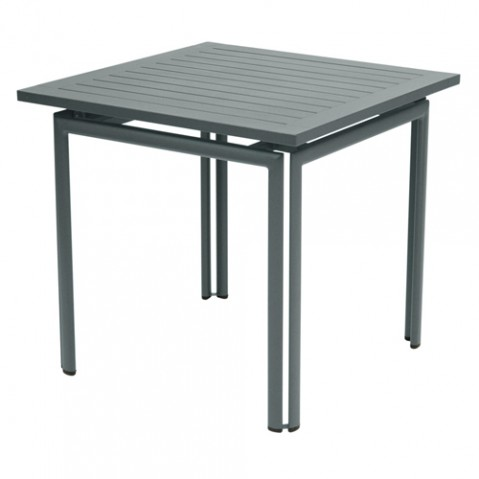 table costa 80 fermob gris orage