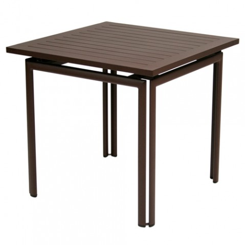 table costa 80 fermob rouille