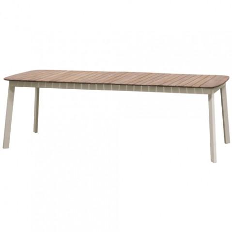 table extensible shine teck emu tourterelle