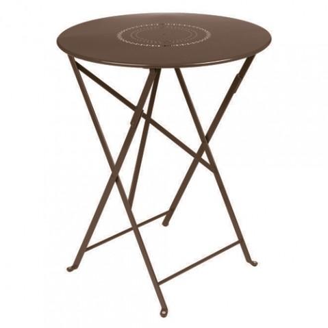 table pliante floreal 60 fermob rouille