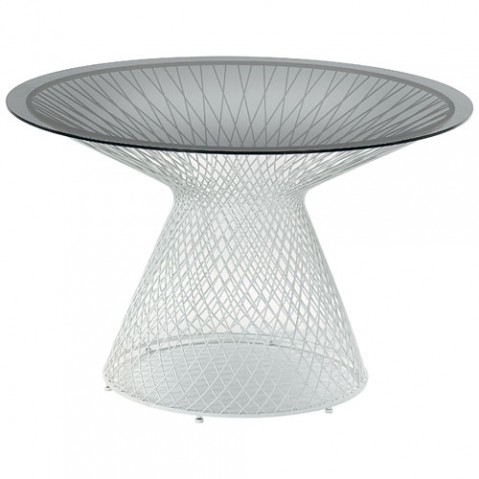 table heaven 120 emu blanc fume