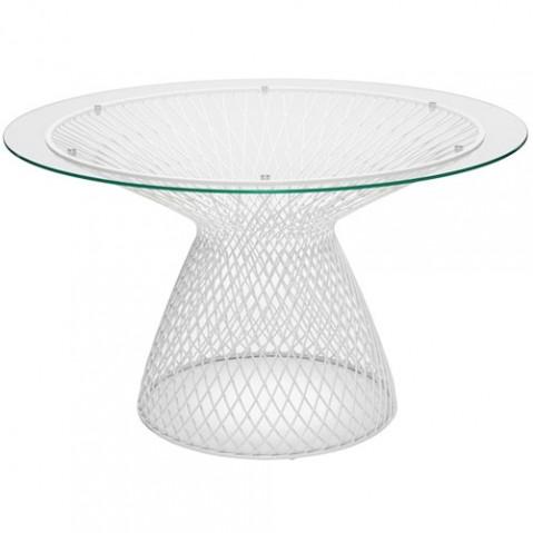 table heaven 120 emu blanc transparent