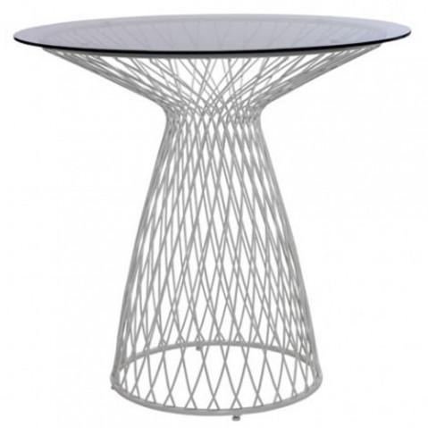 table heaven 80 emu blanc fume