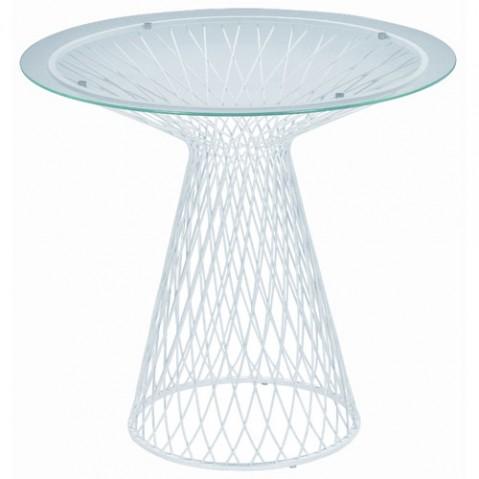 table heaven 80 emu blanc transparent