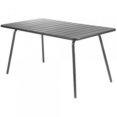 table luxembourg 143 80 fermob carbone
