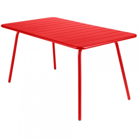 table luxembourg 143 fermob coquelicot