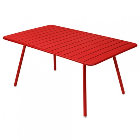 table luxembourg 165 fermob coquelicot