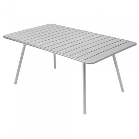 table luxembourg 165 fermob gris metal