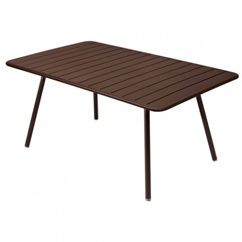 table luxembourg 165 fermob rouille