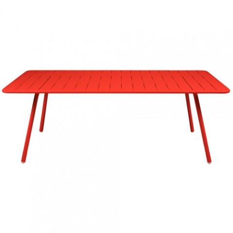 grande table luxembourg fermob coquelicot