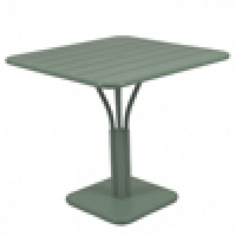 Table Luxembourg 80x80cm Fermob 1 pied romarin