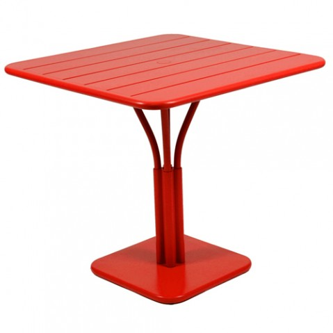 Luxembourg Table Carrée Design Fermob Coquelicot