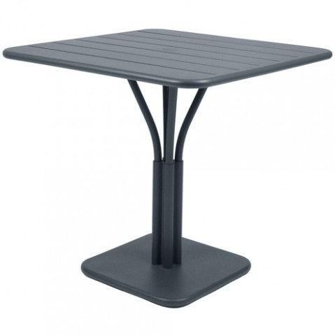 table carree luxembourg 1 pied fermob gris orage