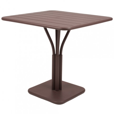 table carree luxembourg 1 pied fermob rouille