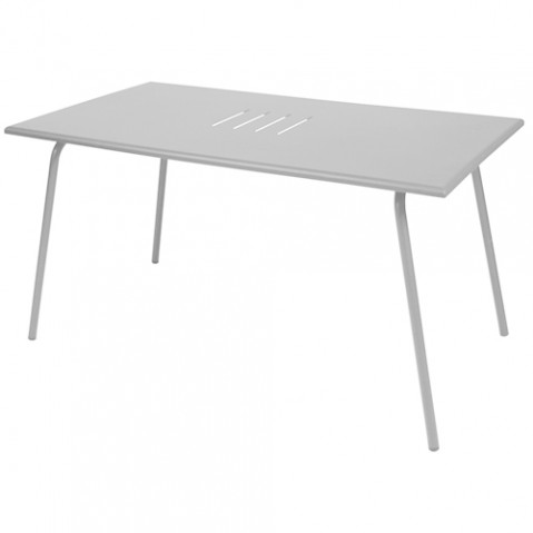 table monceau fermob gris métal