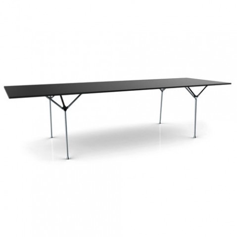 table officina 290 magis galvanise noir