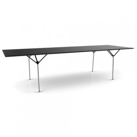 table officina 290 magis galvanise noir