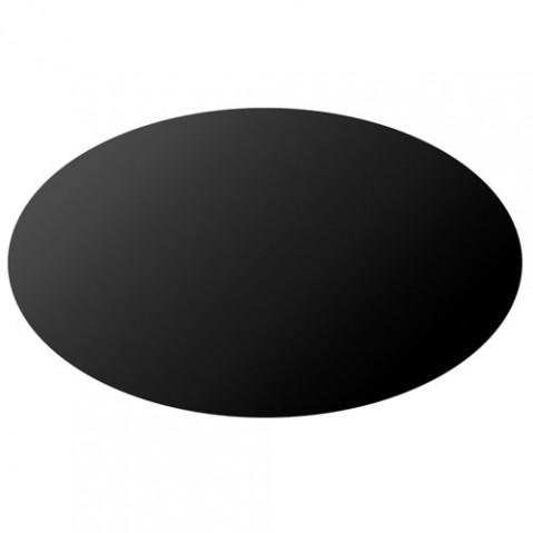 table ovale glossy kartell noir
