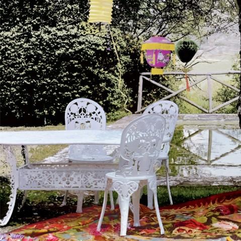 table ovale industry garden seletti blanc