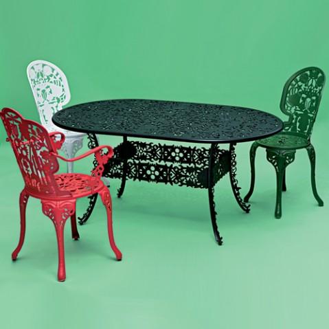 table ovale industry garden seletti rouge
