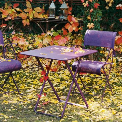 table plein air fermob coquelicot