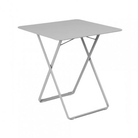 table plein air fermob gris metal