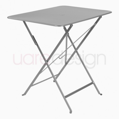 bistro fermob table rectangulaire design gris metal