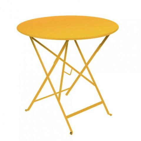 table ronde bistro 77 fermob miel