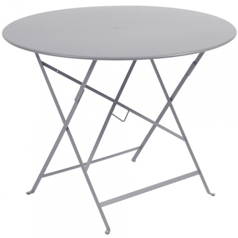 table pliante bistro 96 fermob gris metal