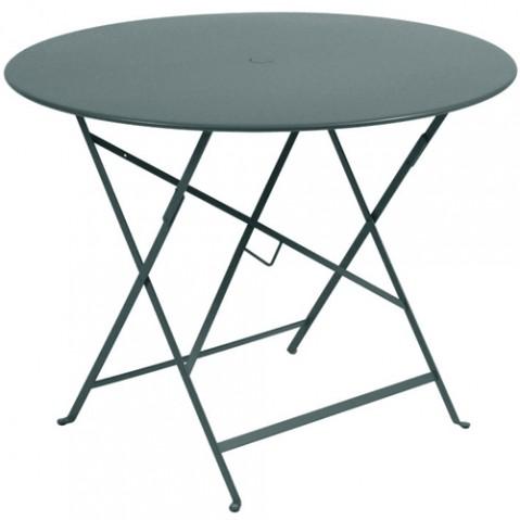 table pliante bistro 96 fermob gris orage