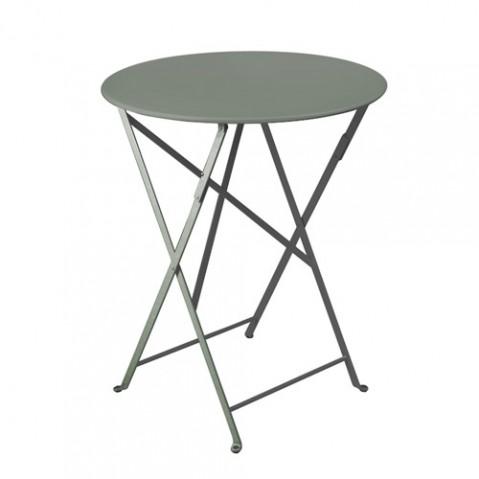table pliante-bistro D60cm Fermob romarin