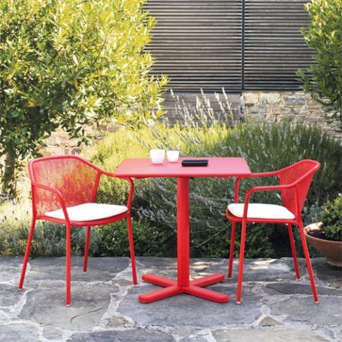 table pliante darwin emu rouge