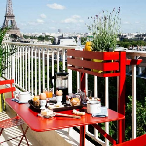 table pliante balcon bistro fermob gris orage
