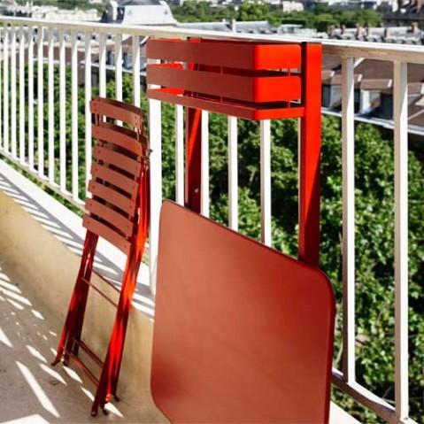 table pliante balcon bistro fermob coquelicot