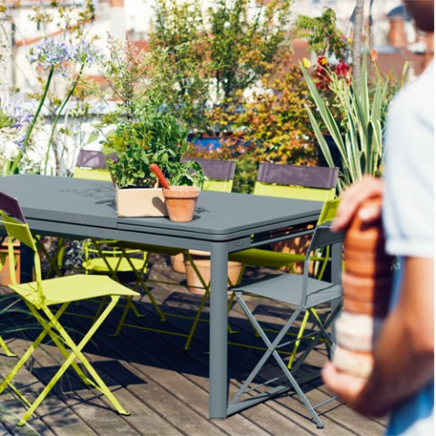 table rallonges biarritz fermob carbone