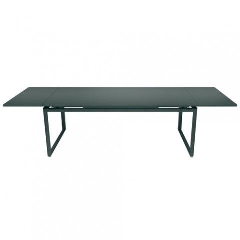 Table a rallonges biarritz gris orage de fermob for Table extensible fermob
