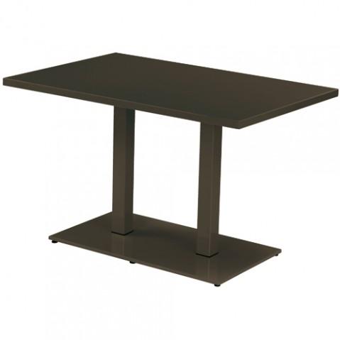 table rectangulaire round emu marron