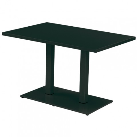 table rectangulaire round emu noir
