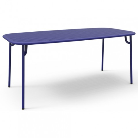 table rectangulaire week end petite friture bleu
