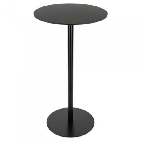 table haute brio 107 la palma plateau rond noir